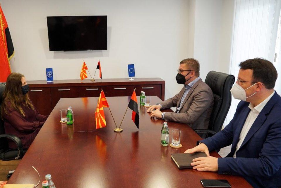 Мицкоски и Николоски на средба со амбасадорката на Обединетото Кралство во Македонија, Рејчел Галовеј