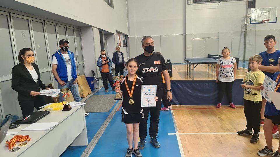 Фани Јовановска од ППК Крушево и Љупчо Треновски од ППК Зегин Берово се првите државни прваци во пинг понг
