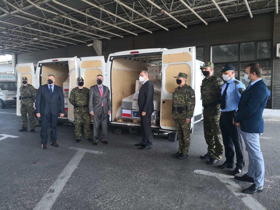 Полска донација од заштитна опрема за македонската гранична полиција