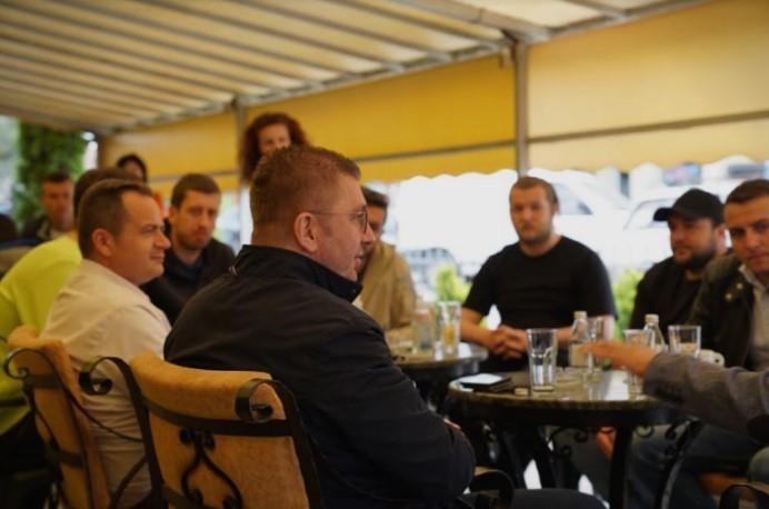 Лидерот на ВМРО ДПМНЕ Мицкоски се дружеше со младите во Делчево