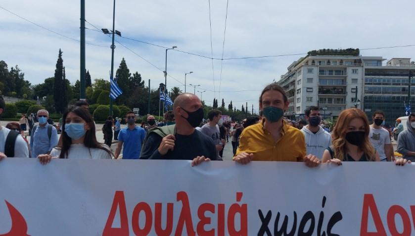 Ципрас и Варуфакис по подолго време се појавија во јавност