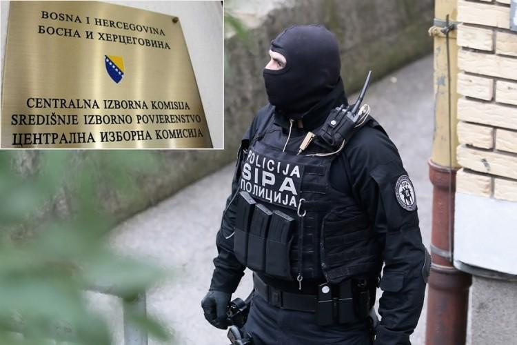 Специјални полициски сили упаднаа во Централната изборна комисија на БиХ
