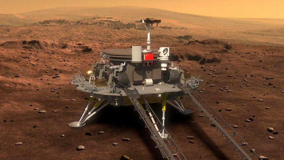 Кинескиoт ровер успешно слета на Марс