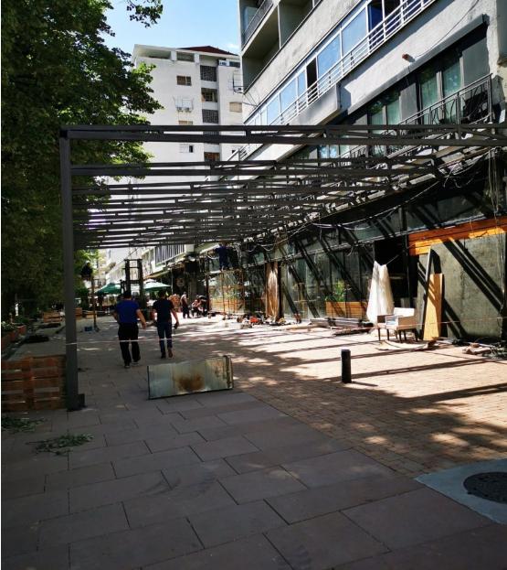 Шилегов вети чист кеј, ама на шеталиштето кај ГТЦ никнува голема метална конструкција
