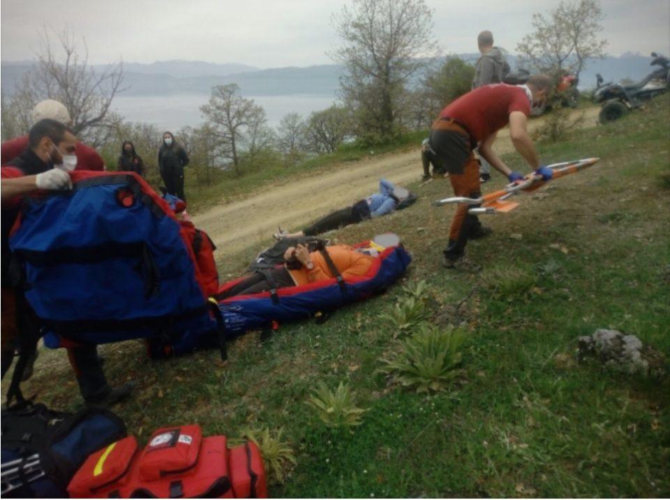 Спасени туристи кои паднале во провалија во охридско, планинската спасителна служба во итна акција