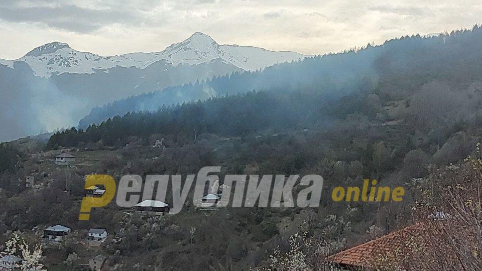 Изгаснат пожарот во Галичник