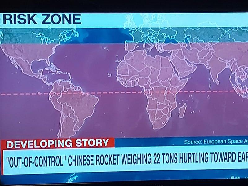 Македонија е на границата на ризичната зона каде би можела да падне кинеската ракета