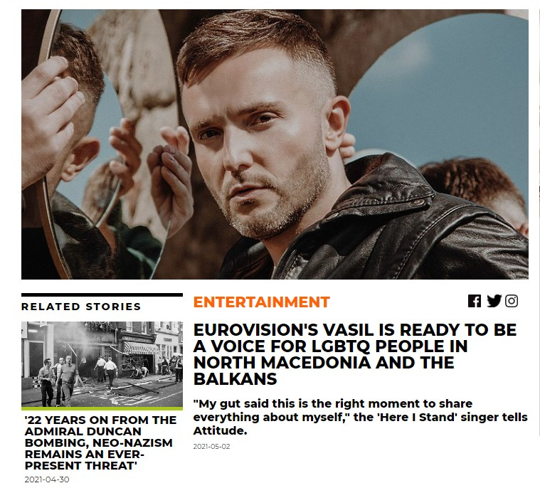 Гарванлиев за британски медиум: Во Македонија дефинитивно не е во ред да се биде геј, секогаш морав да носам маска
