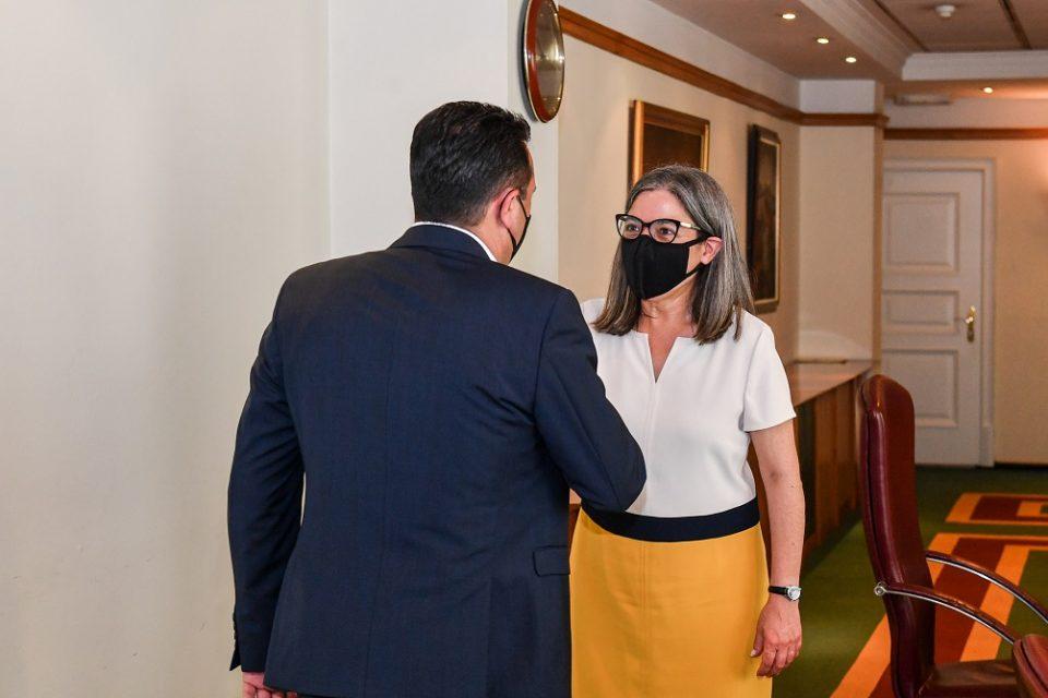 Заев на средба со португалската амбасадорка Пина: Македонија сработи и треба да биде дел од семејството на ЕУ