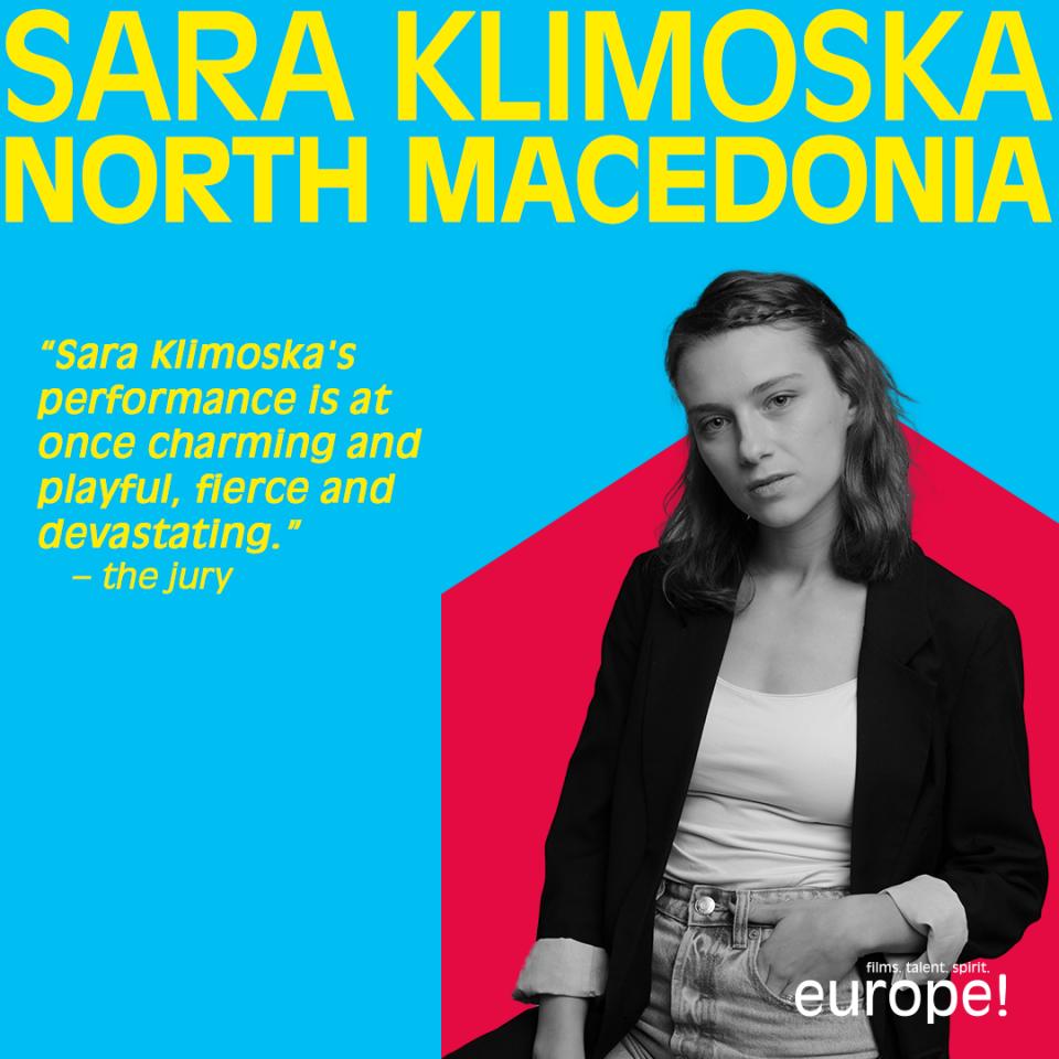 Сара Климоска во Берлин на официјалната церемонија за доделување на наградатаShootingStars 2021