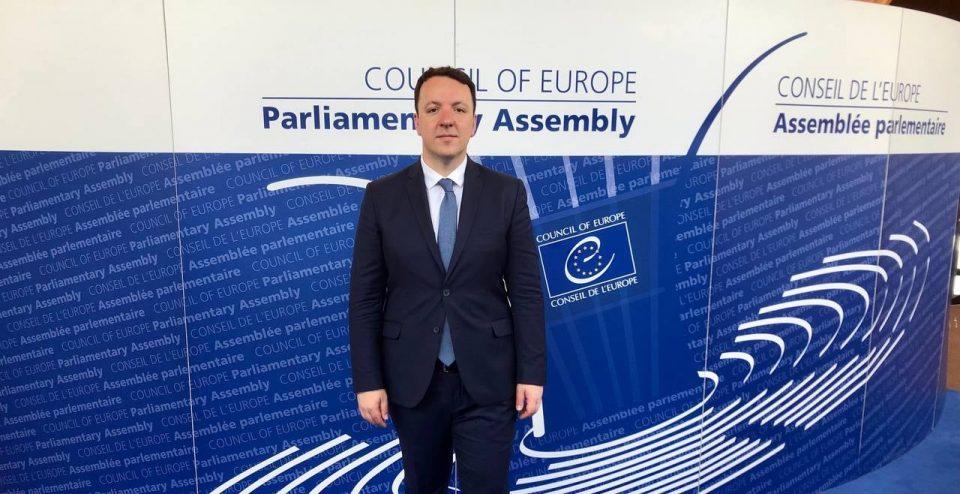 Ќе се борам со цело срце за Македонците, македонскиот јазик и човековите правдини во ПС на Совет на Европа, порача Николоски од Стразбур