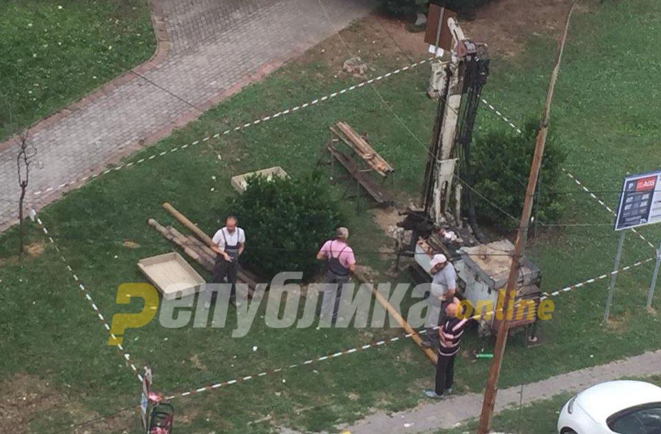 Се испитува почвата за ново станбено чудовиште – кому Богдановиќ и Шилегов му поклонија локација во близина на Плоштад Македонија?
