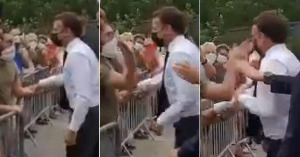 Mакрон доби шлаканица, ударот одекна меѓу толпата народ