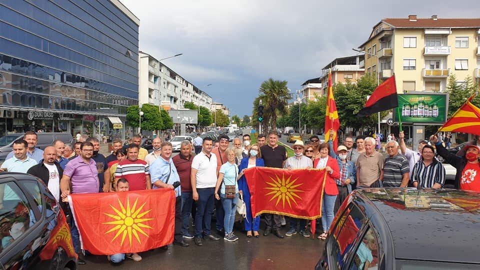 Дождот не може да ја спречи борбата за Македонија, трети ден Струмица е на улица