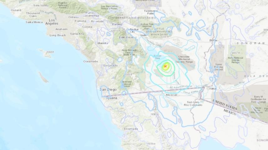 Серија од 152 земјотреси во Калифорнија