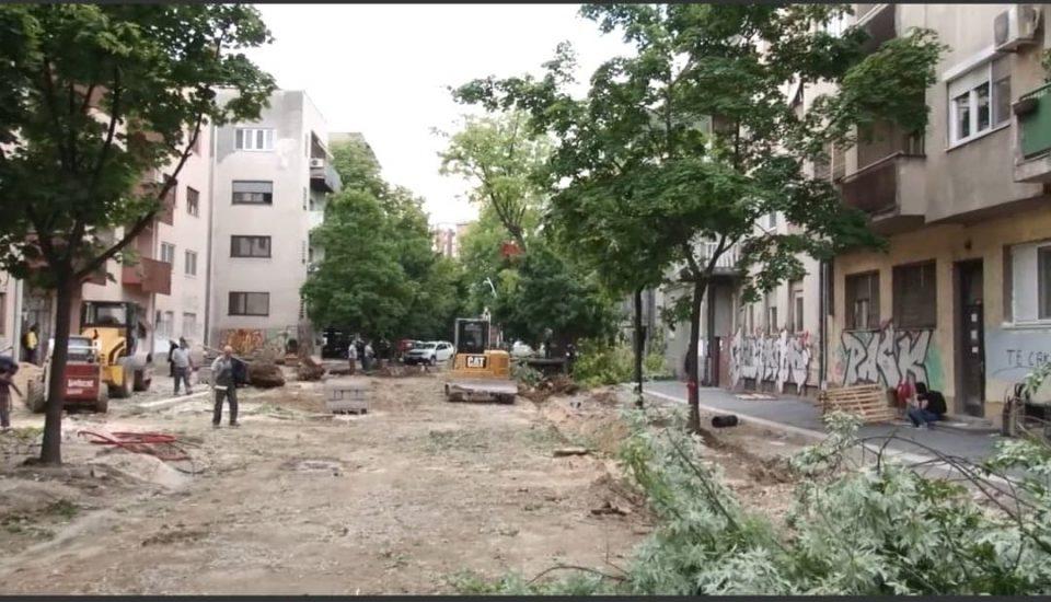 """Почна протестот против сечењето дрвја на """"Орце Николов"""""""
