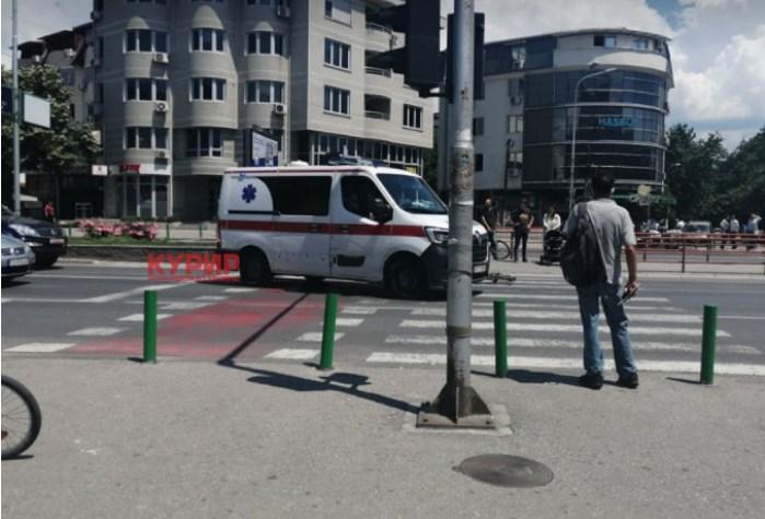 Велосипедист повреден по судир со мотор кај Универзална