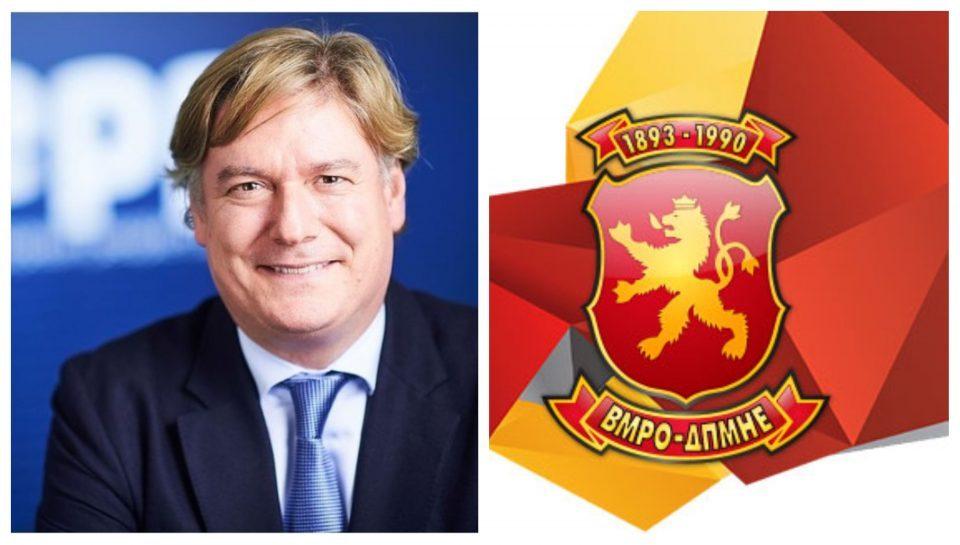Генералниот секретар на ЕПП со честитка за роденденот на ВМРО-ДПМНЕ