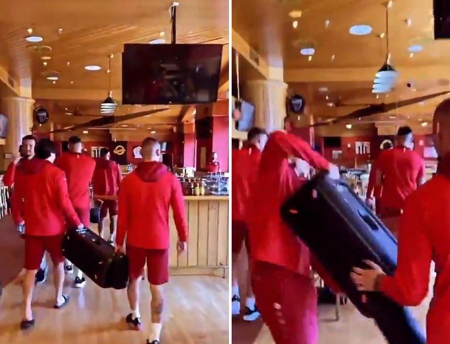 Гоце Арнаудов ечи меѓу во хотелот на македонските фудбалери