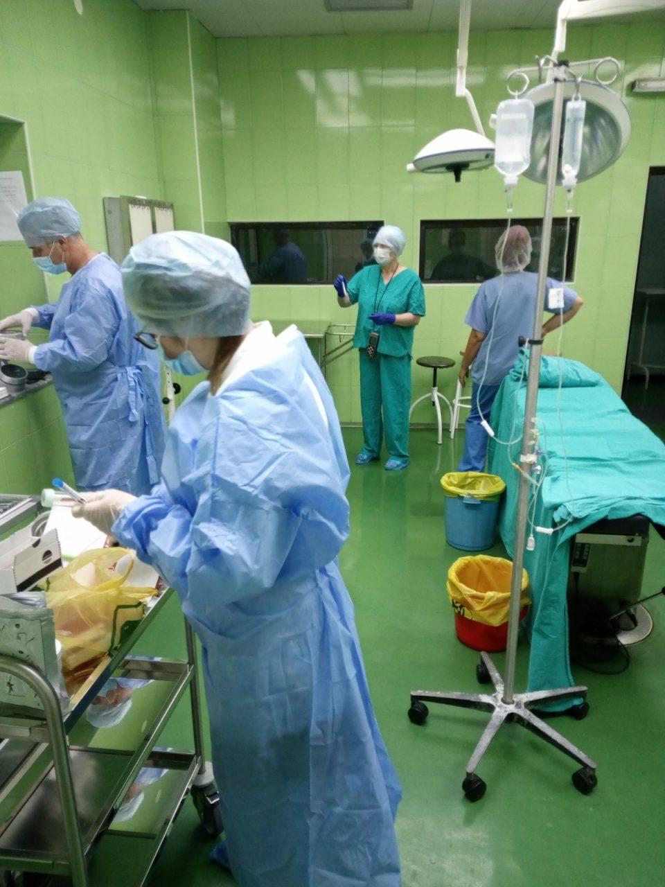 Вонреден инспекциски надзор на Државниот санитерен и здравствен инспекторат во салите за операција на Клиника