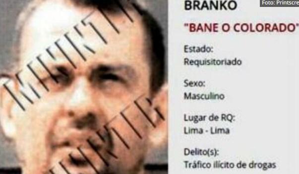 """""""Сарма"""" е главен во Перу: За главата на Бранко Колорадо се нуди 25.000 долари"""