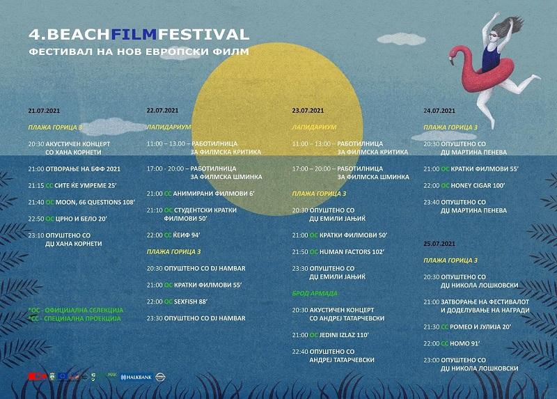 Утре почнува Beach Film Festival во Охрид