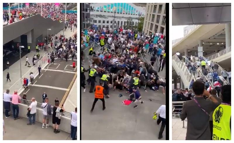 Англиските навивачи се измајмунисаа најдобро што знаат: Илјадници го пробија полицискиот кордон
