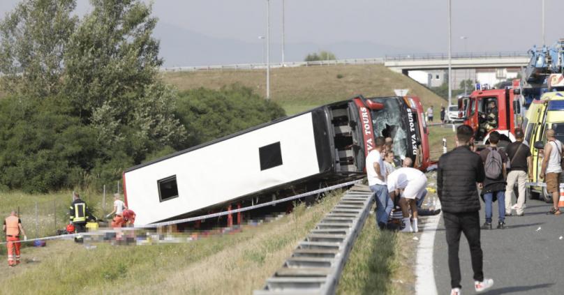 Притвор од еден месец за возачот на превртениот автобус во Хрватска