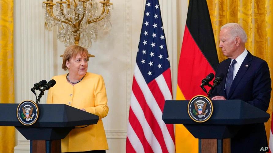 Бајден и Меркел: Германија и САД заеднички ќе се спротивстават на руската агресија