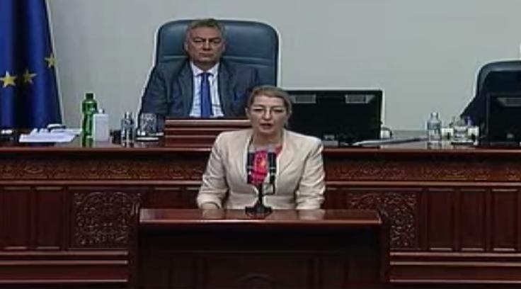 Моќен настап на Ласовска во Собранието на седницата за ребаланс на буџетот