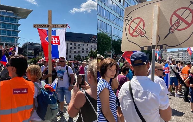 Блокади на улици во Братислава поради нов закон за корона вирусот