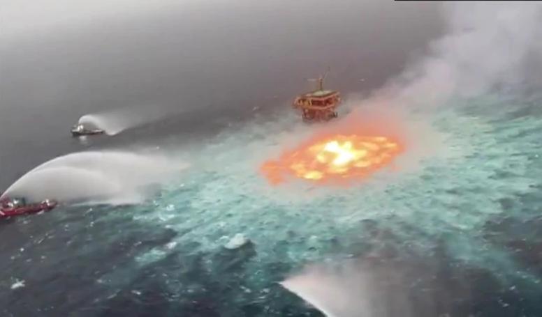 """""""Огнено око"""" се појави во Мексиканскиот залив: Пожар во подводен гасовод"""