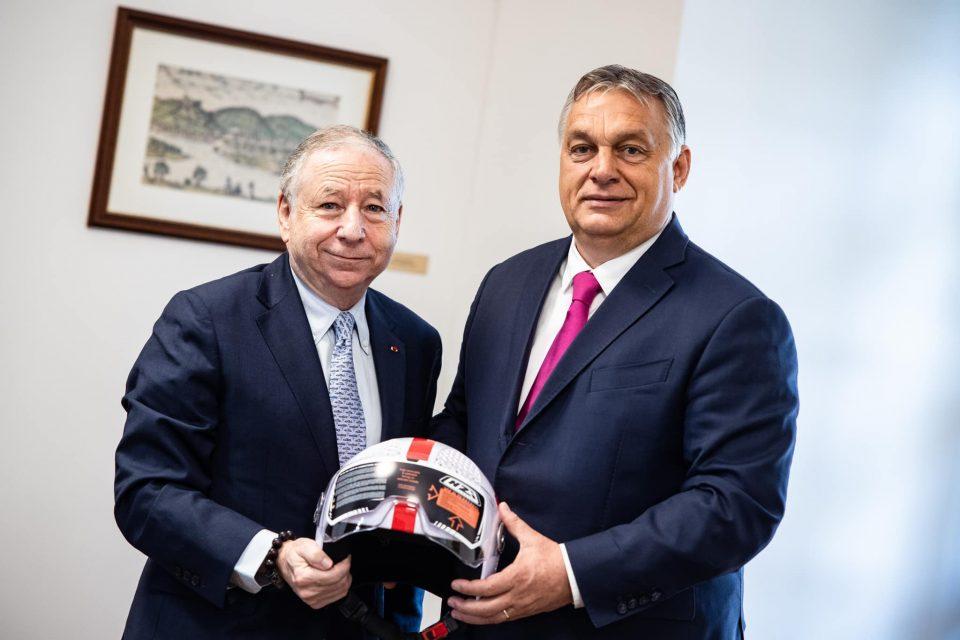 Унгарскиот премиер Виктор Орбан се сретна со претседателот на ФИА, Жан Тод