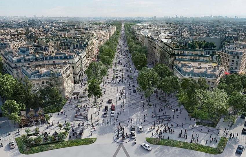 Париз ќе стане зелена метропола: 140.000 паркинг места ќе бидат претворени во градина и паркови