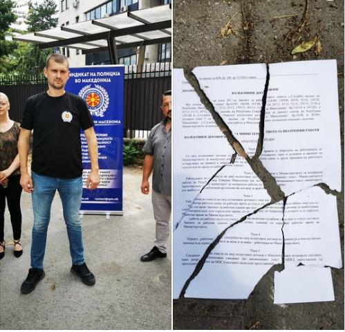 Синдикатот на полиција незадоволен од Спасовски: Полицијата никогаш не била толку понижувана како што е сега