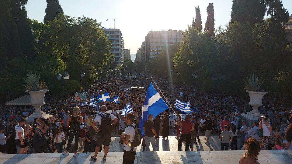 Протест во Атина против вакцините и задолжителната вакцинација
