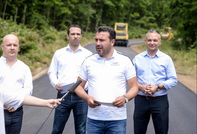 Заев: По 50 години се обновува патната врска која ги поврзува убавините на Преспа и Охрид