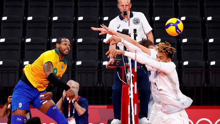 Бразил – Русија е првата полуфинална двојка на одбојкарскиот турнир на Олимпијадата во Токио