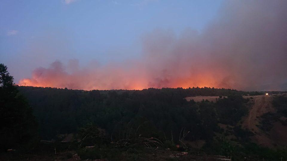 Ангелов: Борова шума гори кај Берово, пожарот од Пехчево се префрли над Будинарци