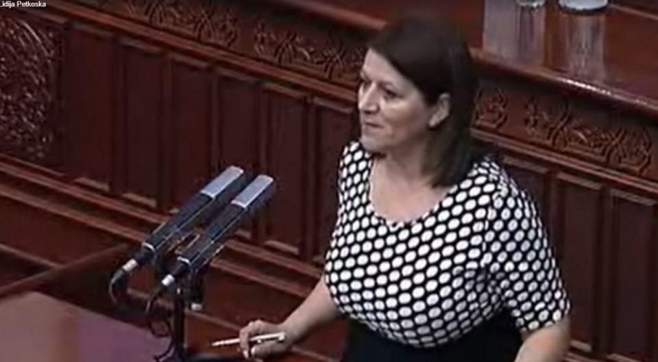 Петкоска за СДСМ и власта: Ја задолживте Македонија за 6,7 милијарди евра со нула капитални проекти
