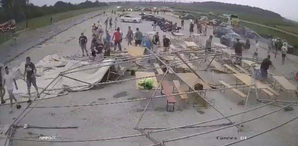 Несреќа избегната за секунди: Невреме и бура предизвикаа големи проблеми во Хрватска