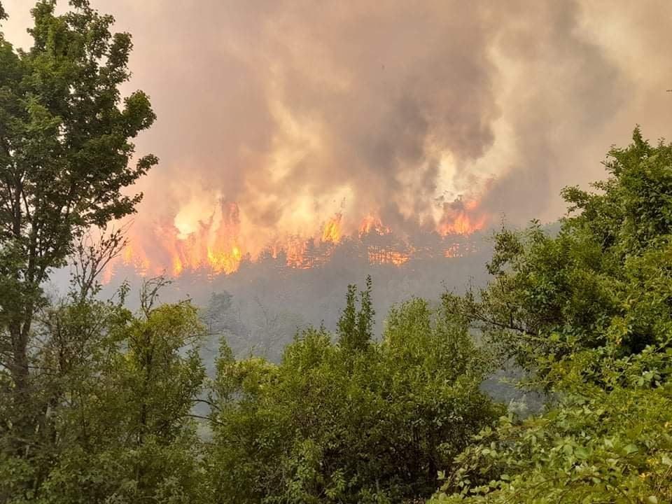 Поради пожарите затворен патот Делчево-Пехчево
