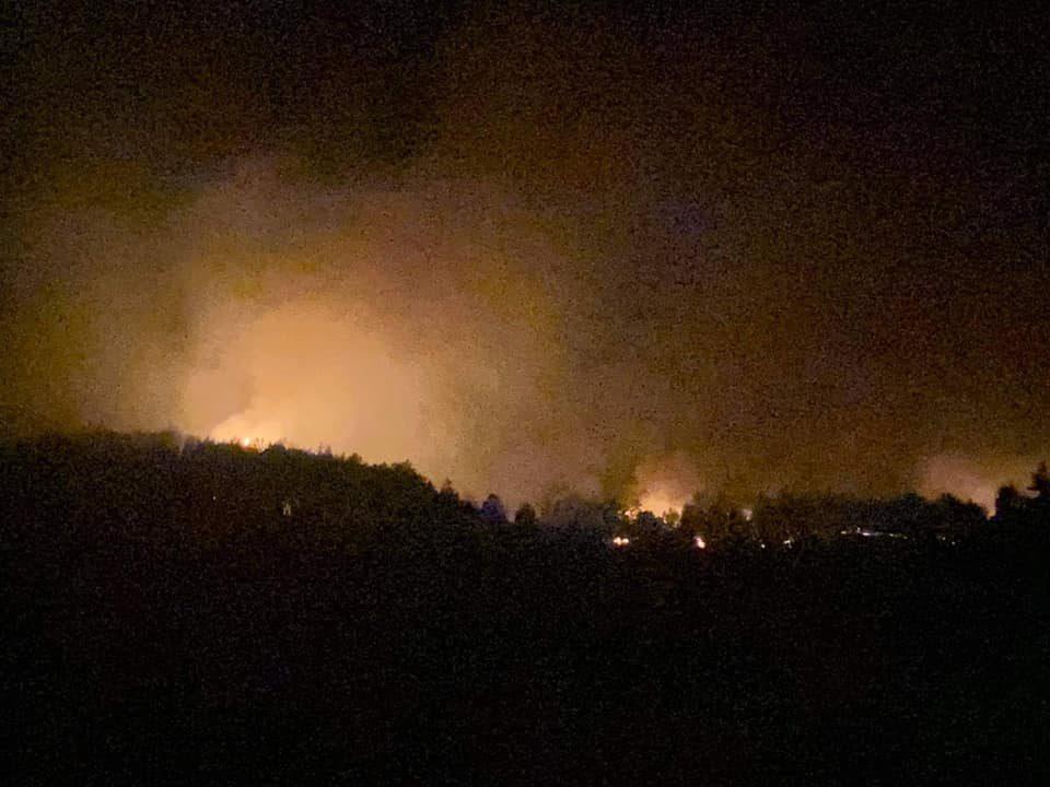 Координација за гасење на пожарот над село Умлена