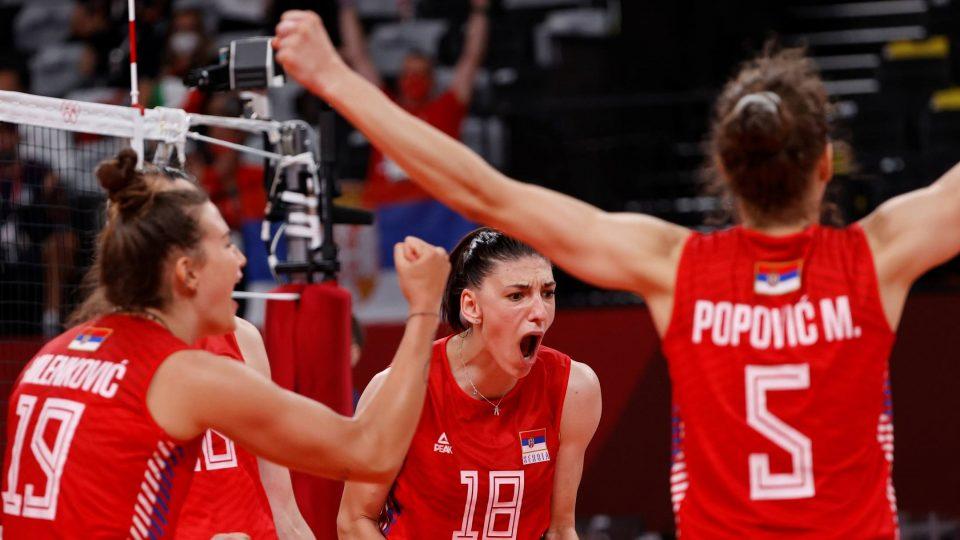 Одбојкарките на Србија ќе играат против САД во полуфиналето на Олимписките игри
