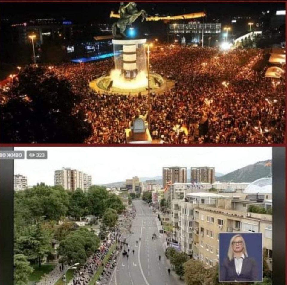 На прославата на 20 години независност имаше 100 илјади граѓани, а десет години подоцна е празно