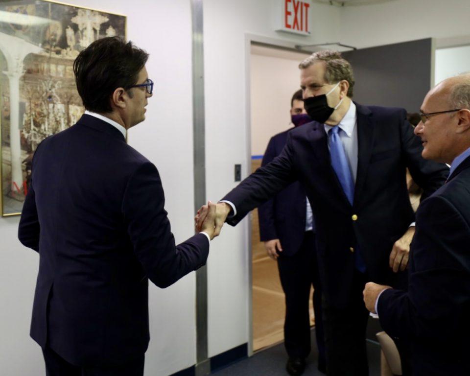 Пендаровски во Њујорк се сретна со претставници на Американско-еврејскиот комитет