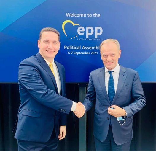 Владимир Ѓорчев во Брисел на средба со претседателот на ЕПП Доналд Туск