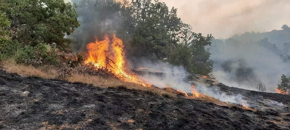 Еден повреден во пожар над Габрово