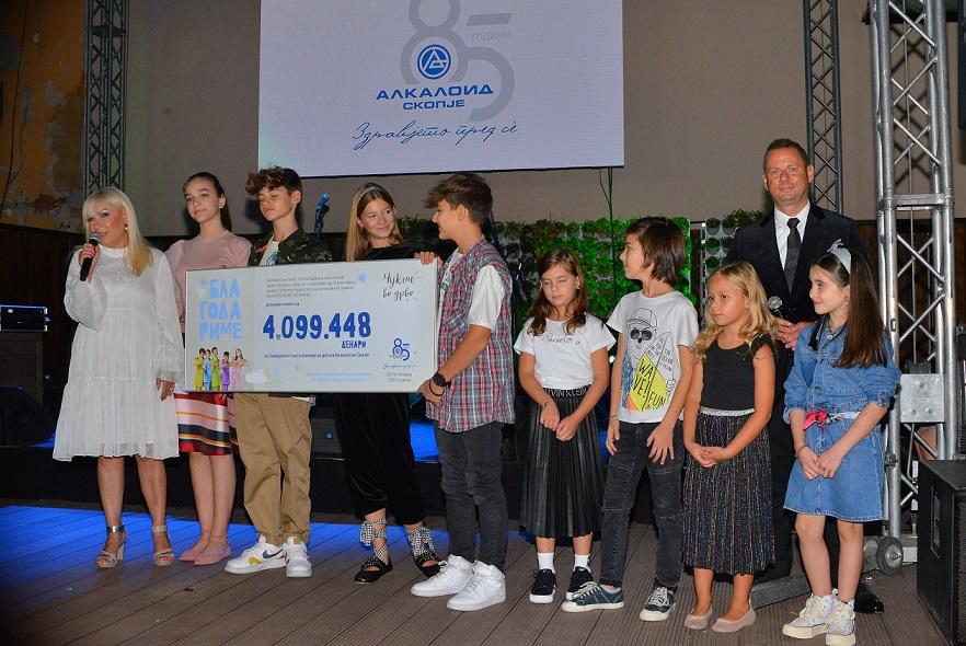 """Со отворање ретроспективна изложба и предавање донација од над 4 милиони денари на Клиниката за детски болести одбележан 85-годишниот јубилеј на """"Алкалоид"""""""