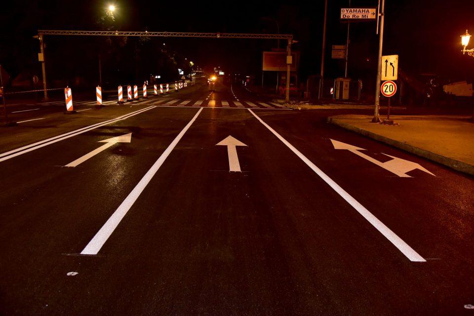Што е реконструирано тука? Сменет е асфалт во должина од 550?